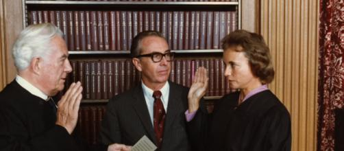 Sandra Day O'Connor, the first female Supreme Court Justice, has shared a diagnosis of dementia. [Image source: Smithsonian Institution/YouTube]