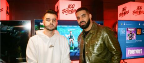 Drake has already showed his interest to 100 Thieves over a month ago. [Image source: Scarce/YouTube]