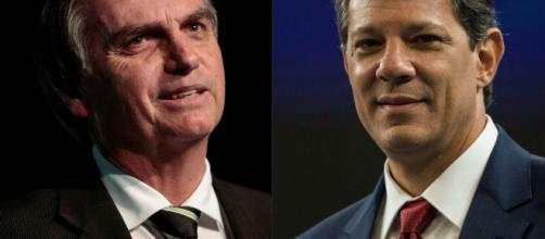 Diminui vantagem de Bolsonaro para Haddad. (foto reprodução).