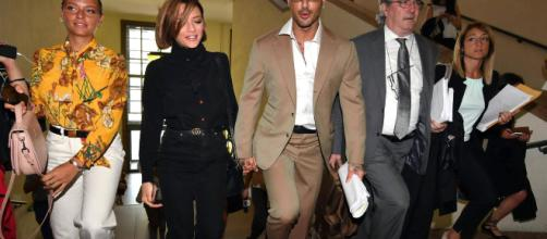 Fabrizio Corona e Silvia Provvedi: mano nella mano in tribunale ... - sologossip.it