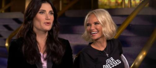 Idina Menzel and Kristin Chenoweth will celebrate Halloween with a 'Wicked' tribute. - [TODAY / YouTube screencap]