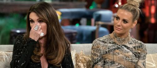 Lisa Vanderpump cries during RHOBH season eight reunion. [image source: Bravo/YouTube]