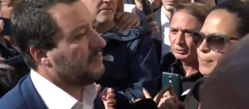 Salvini contestato a Roma (Fonte: La Repubblica - Youtube)