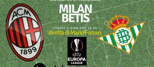 Europa League: Milan Real Betis Siviglia