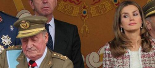 Juan Carlos I y Letizia en imagen de archivo