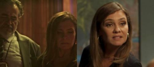 Laureta estava no hotel e na casa de Karola ao mesmo tempo (Foto: Reprodução/TV Globo)