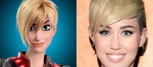 Miley Cyrus se parece com Calhoun. (Foto: Reprodução Internet)