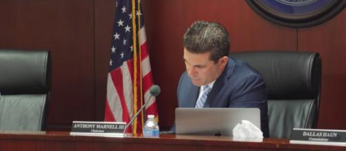 Nevada State Athletic Commission chair Anthony Marnell addresses the McGregor-Nurmagomedov hearing. - [MMAJunkie / YouTube screencap]