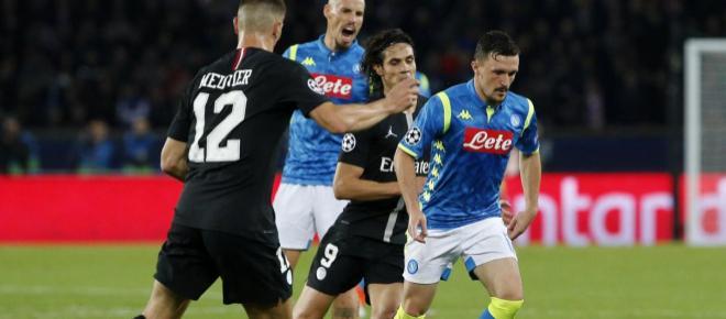 Napoli da cátedra en París pero Di María salva a los locales con golazo para el empate a 2