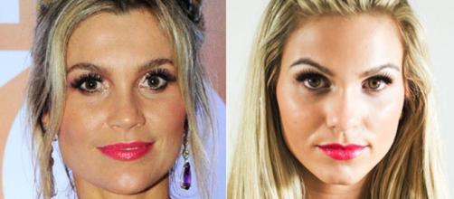 A atriz Flávia Alessandra poderia ser facilmente confundida com sua sósia. (foto reprodução).