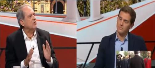 Tenso encontronazo entre Albert Rivera y Javier Aroca en 'Al Rojo Vivo' por Andalucía