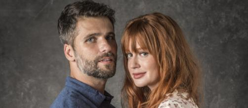 Luz e Gabriel protagonizam o casal principal de O Sétimo Guardião (Foto:Globo/João Cotta)