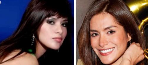 Miriam Saavedra, antes y después de operarse. / GTRES