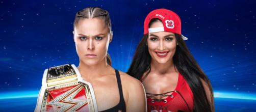 Nikki Bella takes on Ronda Rousey as part of October 28 WWE Evolution pay-per-view. - [WWE / YouTube screencap]
