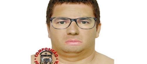 Retrato falado do suposto sequestrador no caso Eduarda