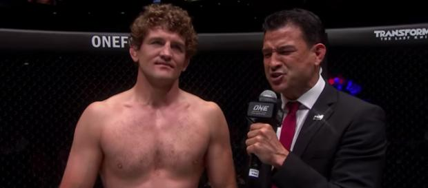Ben Askren seems to be heading to the UFC in an MMA-first trade between UFC and ONE Championship. [Image source: ONE Championship/YouTube]