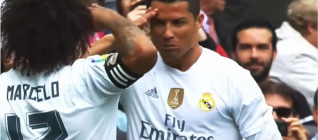 Cristiano Ronaldo e Marcelo no Real [Imagem via YouTube]
