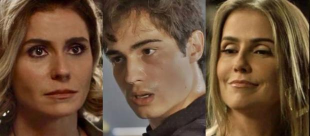 Karola, Valentim e Luzia em 'Segundo Sol'. (foto reprodução).