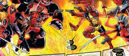 A batalha entre as versões alternativas de Wade Wilson em Deadpool Mata Deadpool.