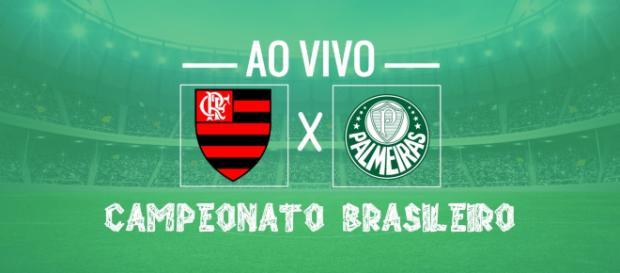 Brasileirão ao vivo: Flamengo x Palmeiras. (foto reprodução).