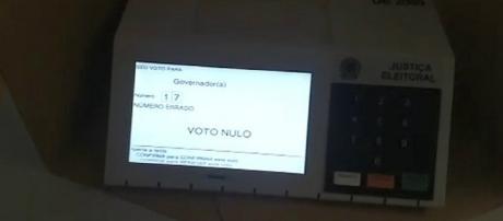 Eleitor queria votar para presidente, quando na verdade era para escolher governador.