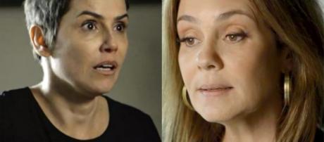Karola e Laureta (Foto: TV Globo)