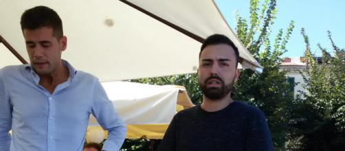 Andrea Crippa, coordinatore dei Giovani Padani e Andrea Piras, coordinatore per la Sardegna della Lega Giovani - Fonte: Ignazio Manca