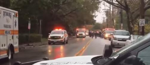 Shooter in custody after Pittsburgh Synagogue Shooting [Image courtesy - NBC News YouTube video]