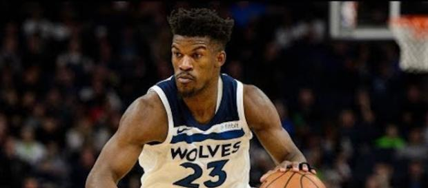 Jimmy Butler trade rumors continue to stay hot as the Timberwolves may deal their All-Star soon. - [ESPN / YouTube screencap]