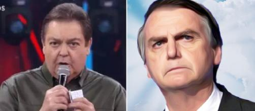 Faustão manda recado a Jair Bolsonaro. (foto reprodução).