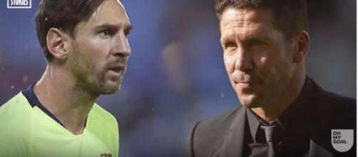 Leo Messi e Simeone [Imagem via YouTube]
