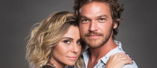 Luzia e Beto Falcão, personagens de Segundo Sol.