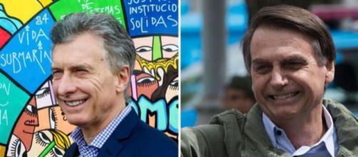 Macri (izq) y Bolsonaro (der), presidentes de Argentina y Brasil respectivamente (Perfil)
