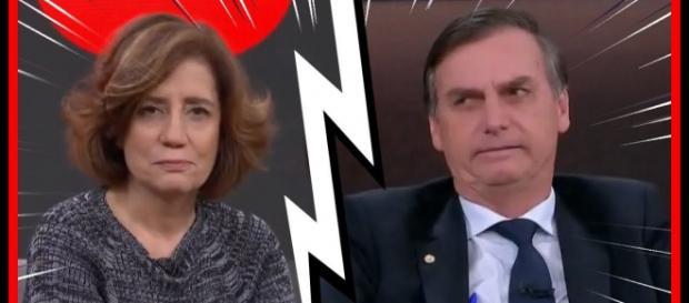 Miriam Leitão não concorda com atitude de Bolsonaro após vitória. (foto reprodução).