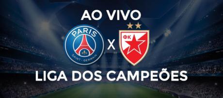 Liga dos Campeões: PSG x Estrela Vermelha ao vivo