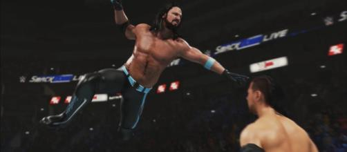 AJ Styles is among the top five highest-rated men's superstars in the 'WWE 2K19' game. - [WWE / YouTube screencap]