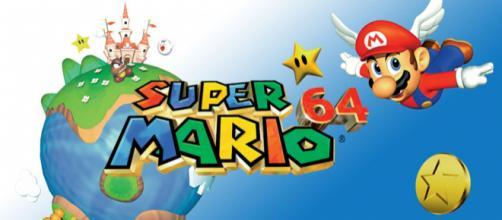 Capa do jogo Super Mario 64 da Nintendo.