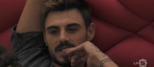 Francesco Monte nella casa del Grande Fratello VIP