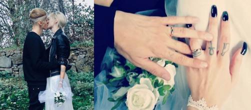 Le immagini del matrimonio di Young Signorino