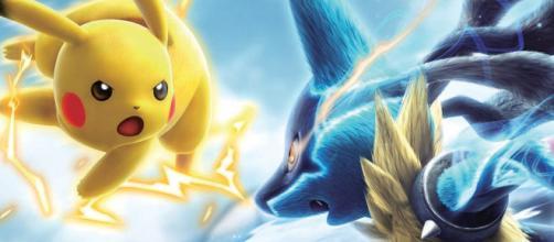 Pikachu versus Lucário em Pokken Tournament.
