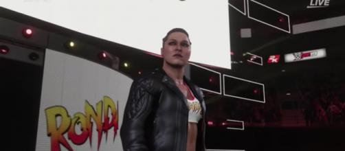 Ronda Rousey is a newcomer in WWE but has quickly got 'WWE 2K19' game's best overall rating for a female superstar. - [WWE / YouTube screencap]