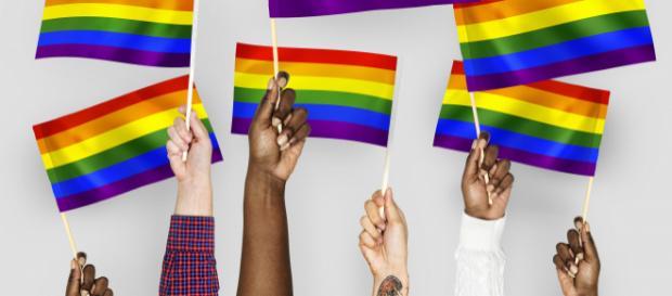 Diritti Gay: no all'omofobia (arcobaleno)