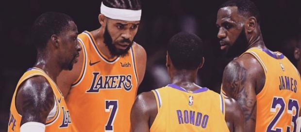 LeBron James and Rajon Rondo / Image by lebron.james.king Instagram]
