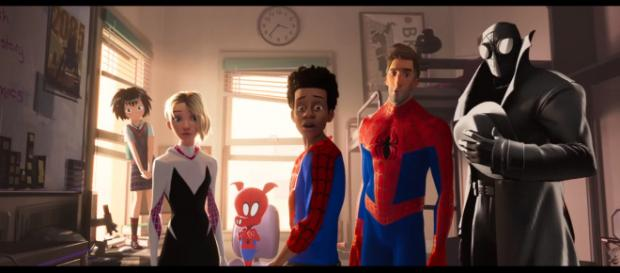 Miles Morales meets the other web-slingers in 'Spider-Man: Into the Spider-Verse.' - [Sony Pictures Entertainment / YouTube screencap]