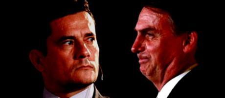 Juiz Sérgio Moro e Jair Messias Bolsonaro (Imagem: Reprodução/Montagem/Internet)