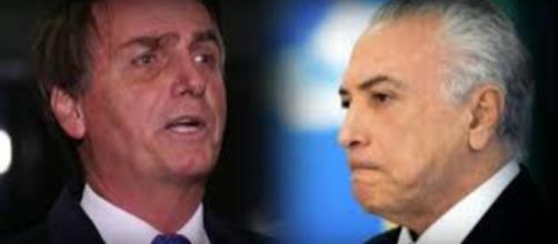 Jair Bolsonaro e Michel Termer. (foto reprodução).