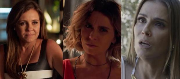Laureta, Karola e Luzia em 'Segundo Sol'