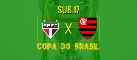 São Paulo x Flamengo ao vivo pela Copa do Brasil Sub-17