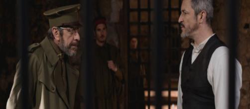 Il Segreto, anticipazioni dal 5 al 10 novembre: Alfonso ed Emilia torturati in carcere da Perez