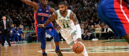 Kyrie Irving helped guide the Boston Celtics to their third-straight win on October 30. - [Bleacher Report / YouTube screencap]